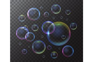 Realistic 3d Detailed Soap Bubble