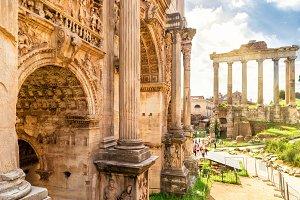 Arch of Emperor Septimius Severus...