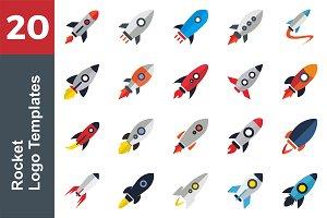 20 Logo Rocket Templates Bundle