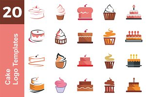 20 Logo Cake Templates Bundle