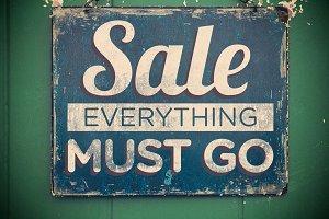 Worn Sale Sign