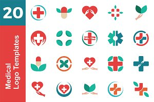 20 Logo Medical Template Bundle