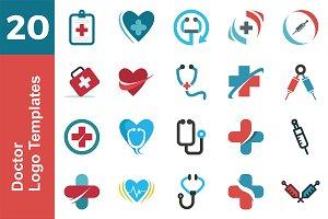 20 Logo Doctor Templates Bundle
