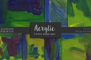 Acrylic texture digital paper