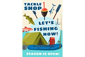Tackle, fishery equipment and fish