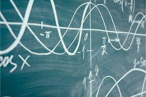 Trigonometry. School Chalkboard