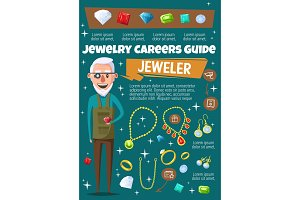 Jeweler, jewelry and gemstones