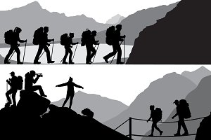 People in hike