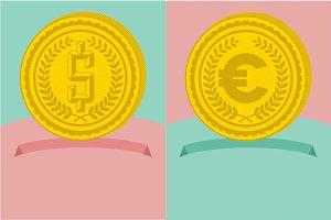 6 Money coin graphic concept