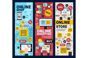 Online shopping and payment banners