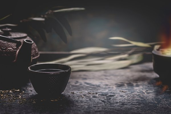 Food Stock Photos: VICUSCHKA - Dark tea background