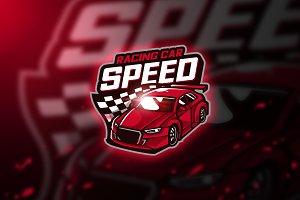 Racing car - Mascot & Esport Logo