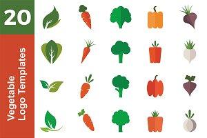 20 Logo Vegetable Templates Bundle