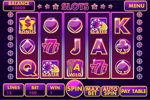 Complete menu Interface slot games 3