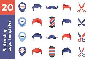 20 Logo Barbershop Templates Bundle