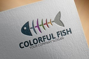 Colorful Fish Logo