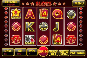 Complete menu Interface slot games