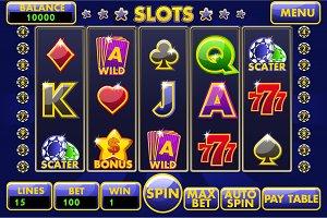 Complete menu Interface slot games 2