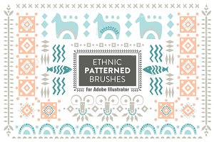 Ethnic Patterned Brushes for AI