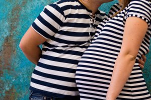 Beautiful couple: pregnant woman and