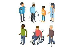 Disabilities persons isometric