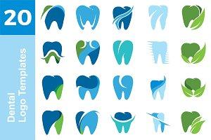 20 Logo Dental Templates Bundle