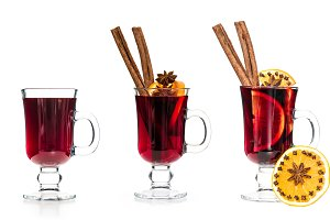 Mulled wine orange cinnamon anise is