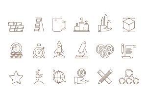 Startup symbols. Business idea