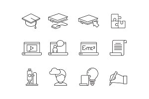 Learning icon. Online education