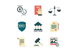 Copyright icons. Business company