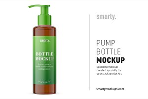 Pump bottle mockup / amber