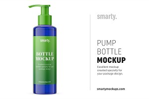 Pump bottle mockup / cobalt