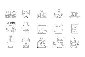 Project management symbols. Business