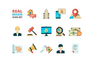 Real estate symbols. Business house
