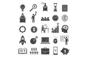 Business icons. Marketing diagram