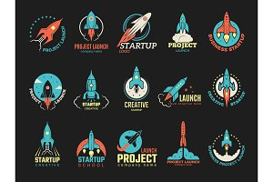 Startup logo. Business launch