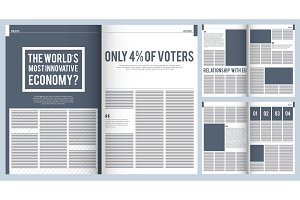 Magazine layout. Mockup template of