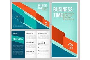 Trifold business brochure. 3 leaflet