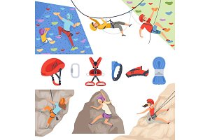 Mountain climbers. Mountaineering