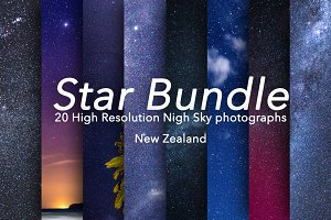 Star Bundle - 20 Stars Photographs