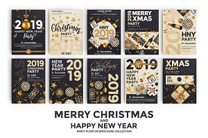 Set of 10 Christmas Party Flyers