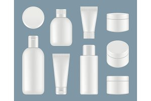 Cosmetic tubes. Makeup plastic