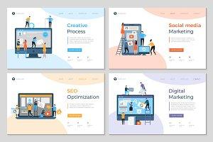 Landing pages design. Business