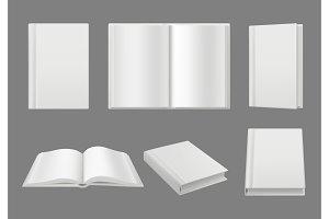 Books cover template. Clean white 3d