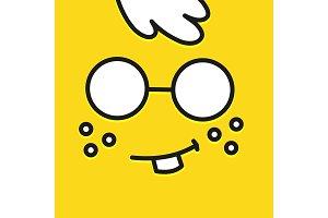 Smile icon template design. Botan