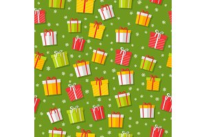 Wrapped Gifts Seamless Patterns