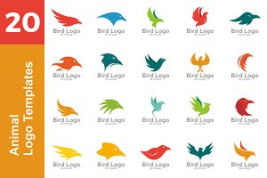 20 Logo Animal Templates Bundle