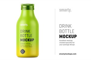 Drink bottle mockup
