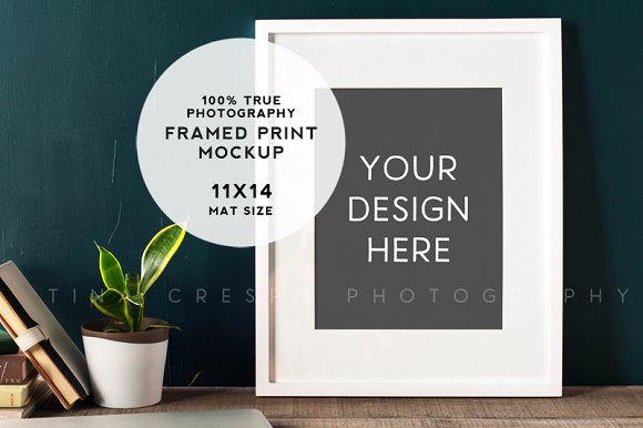 Download Rustic Teal Framed Print Mockup #4
