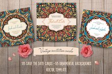 36 invitation cards template. Vector